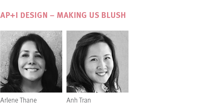 NeoCon 2018 Making Us Blush Trend presented by AP+I Design Arlene Thane, Anh Tran