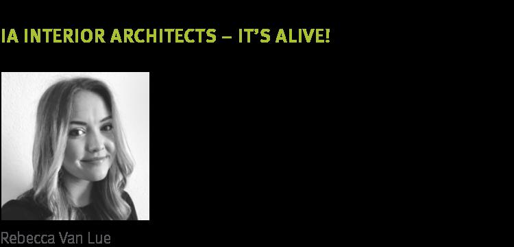 NeoCon 2018 trend It's Alive Biophilia by IA Interior Architects Rebecca Van Lue