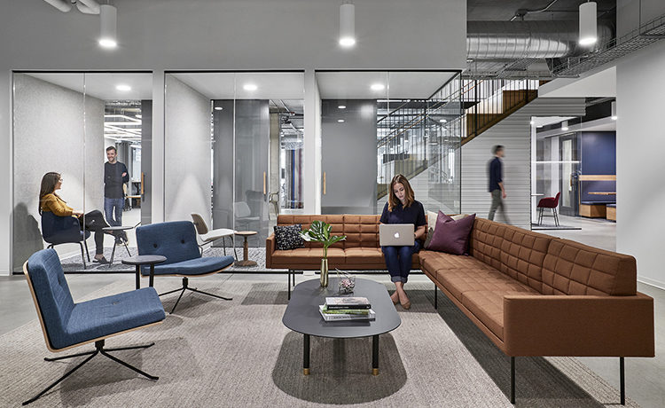San Francisco SF Financial Tech firm project photo by Garrett Rowland, designed by Studio O+A