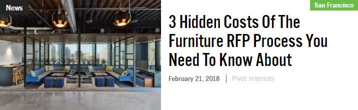 Hidden costs of furniture RF process bisnow pivot
